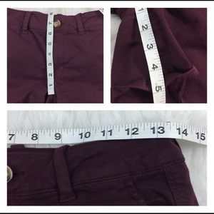 American Eagle Outfitters Shorts - American Eagle Midi Stretch Burgundy Shorts Size 6